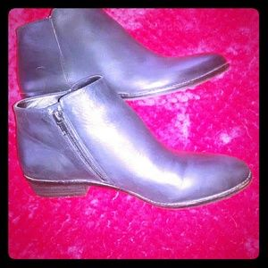 Gianni Binni Black Side Zip Ankle Boots